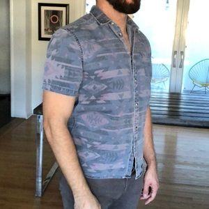 American Apparel aztec print men's shirt